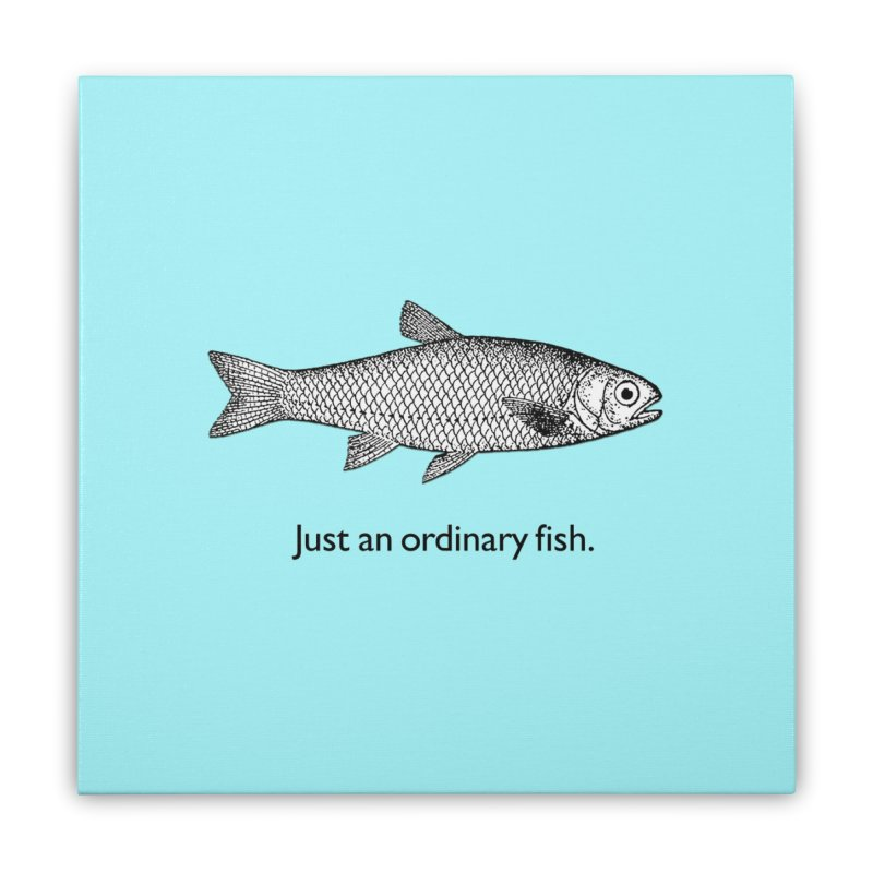 Just an ordinary fish. Home Stretched Canvas by The Digital Crafts Shop