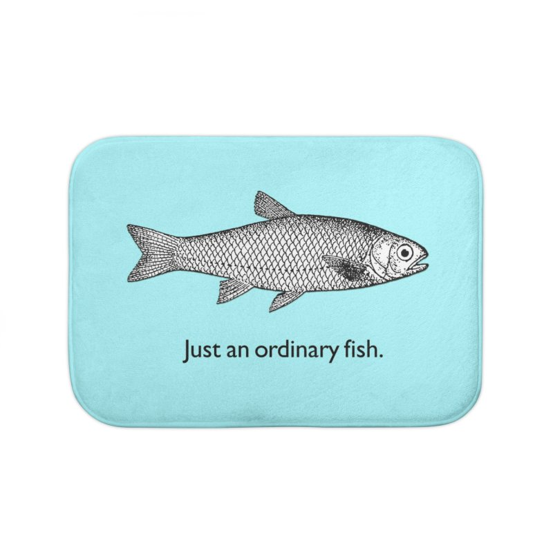 Just an ordinary fish. Home Bath Mat by The Digital Crafts Shop