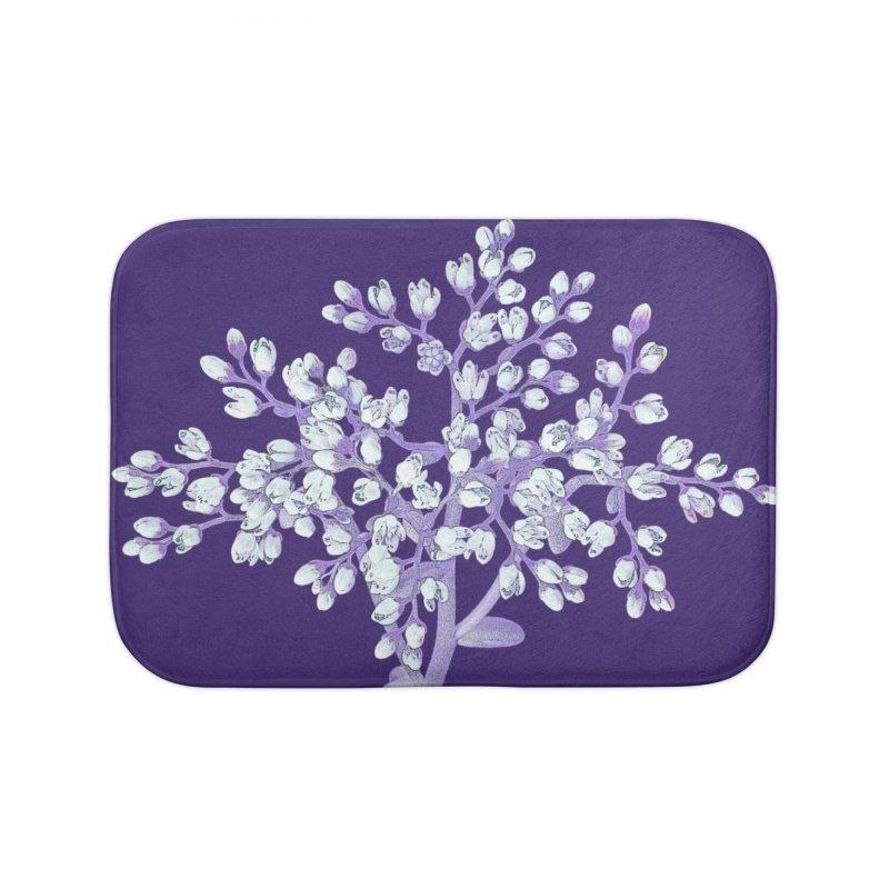 Purple Flower Tree Home Bath Mat by The Digital Crafts Shop