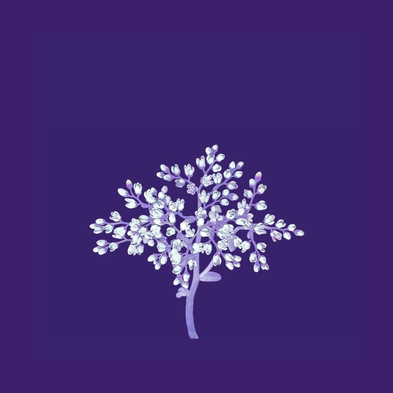 Purple Flower Tree by The Digital Crafts Shop
