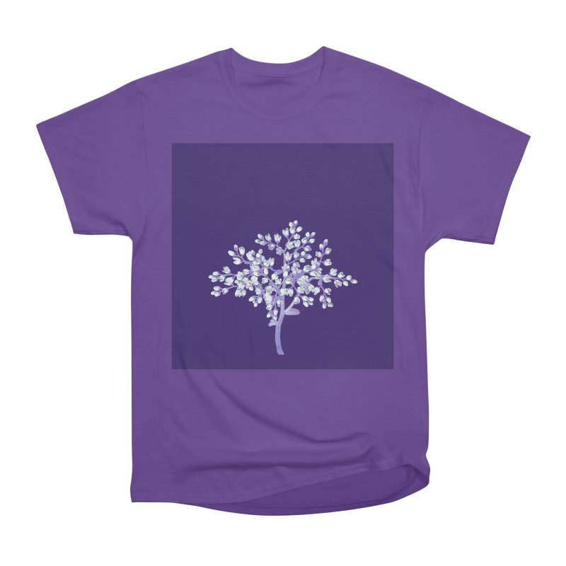 Purple Flower Tree Women's Classic Unisex T-Shirt by The Digital Crafts Shop