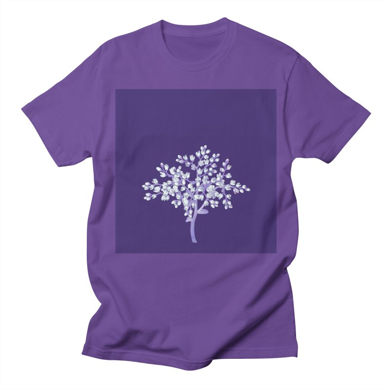 Purple Flower Tree Women's Regular Unisex T-Shirt by The Digital Crafts Shop