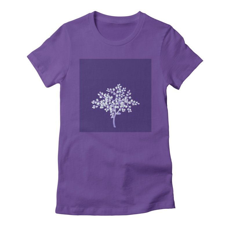 Purple Flower Tree Women's Fitted T-Shirt by The Digital Crafts Shop