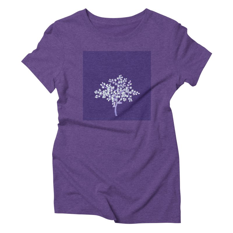 Purple Flower Tree Women's Triblend T-shirt by The Digital Crafts Shop