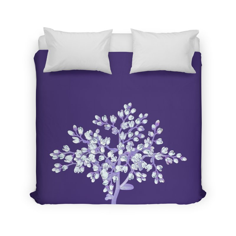 Purple Flower Tree Home Duvet by The Digital Crafts Shop