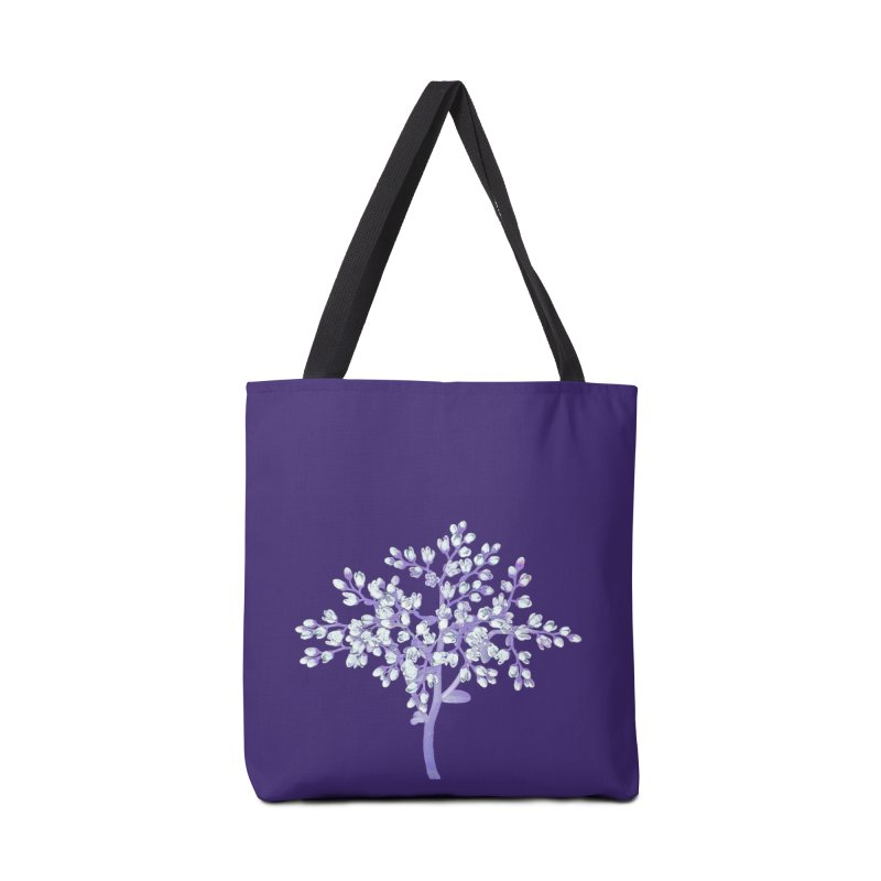 Purple Flower Tree Accessories Bag by The Digital Crafts Shop