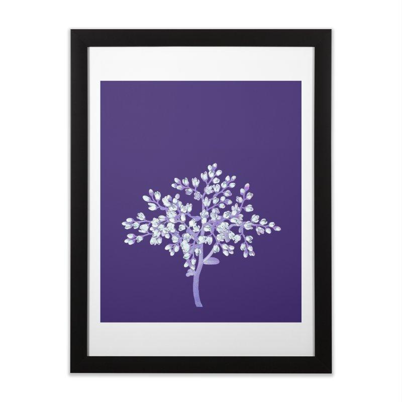 Purple Flower Tree Home Framed Fine Art Print by The Digital Crafts Shop