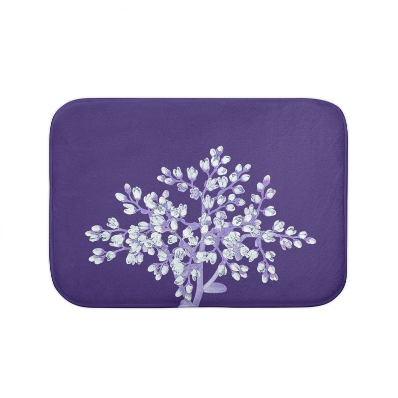 Purple Flower Tree Home Bath Mat by The Digital Crafts Shop