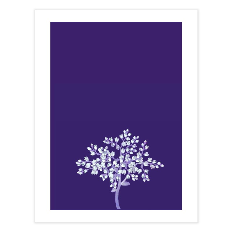 Purple Flower Tree Home Fine Art Print by The Digital Crafts Shop