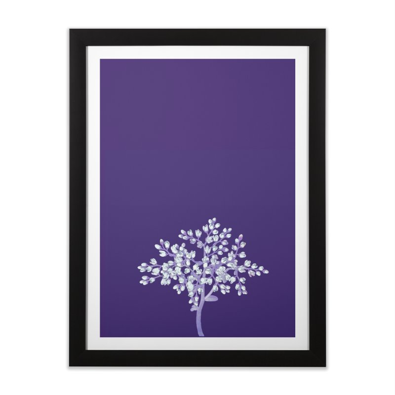 Purple Flower Tree Home Framed Fine Art Print by The Digital Crafts Shop