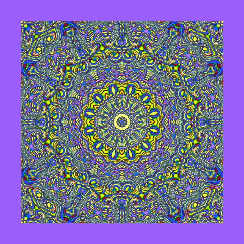 Lavender and Lime Kaleidoscope Mandala by The Digital Crafts Shop