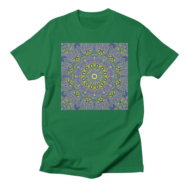 Lavender and Lime Kaleidoscope Mandala Women's Regular Unisex T-Shirt by The Digital Crafts Shop