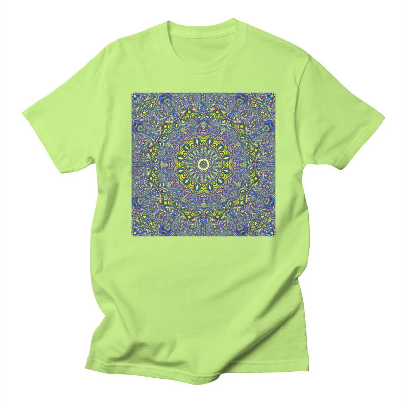 Lavender and Lime Kaleidoscope Mandala Women's Unisex T-Shirt by The Digital Crafts Shop