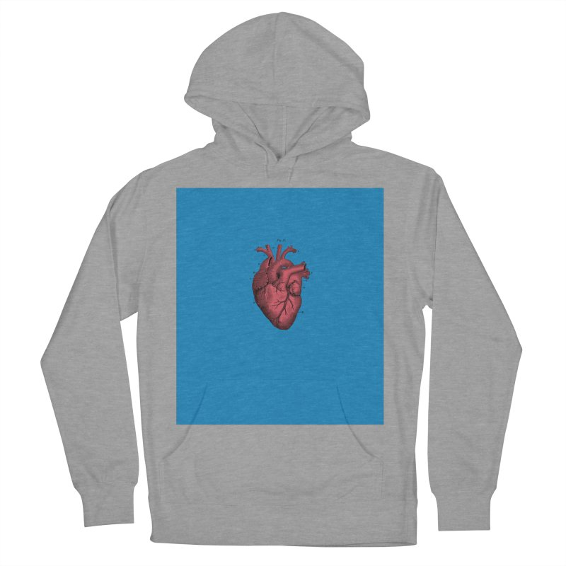 Vintage Anatomical Heart Women's French Terry Pullover Hoody by The Digital Crafts Shop