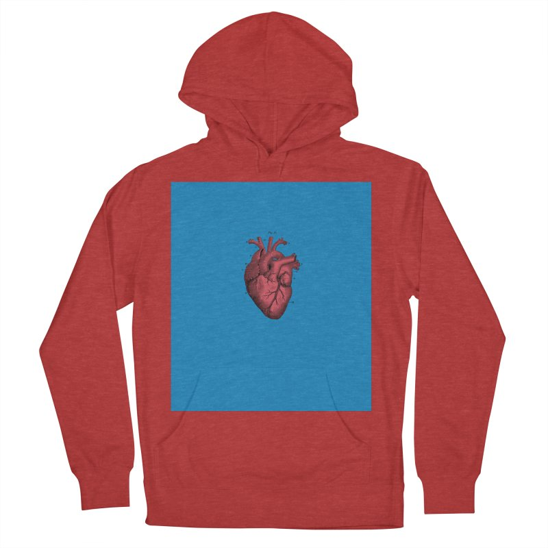 Vintage Anatomical Heart Men's French Terry Pullover Hoody by The Digital Crafts Shop
