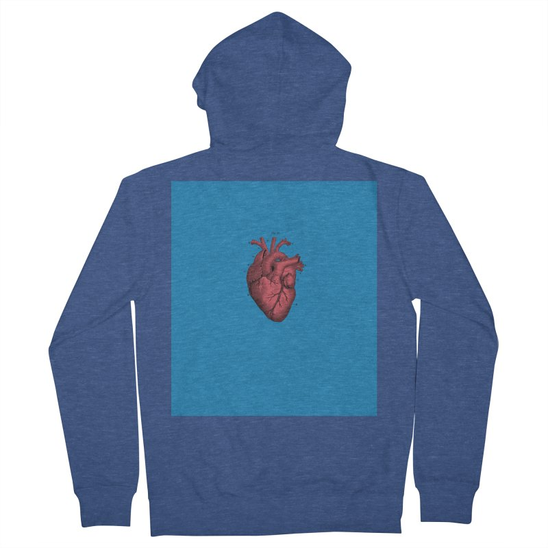 Vintage Anatomical Heart Women's Zip-Up Hoody by The Digital Crafts Shop