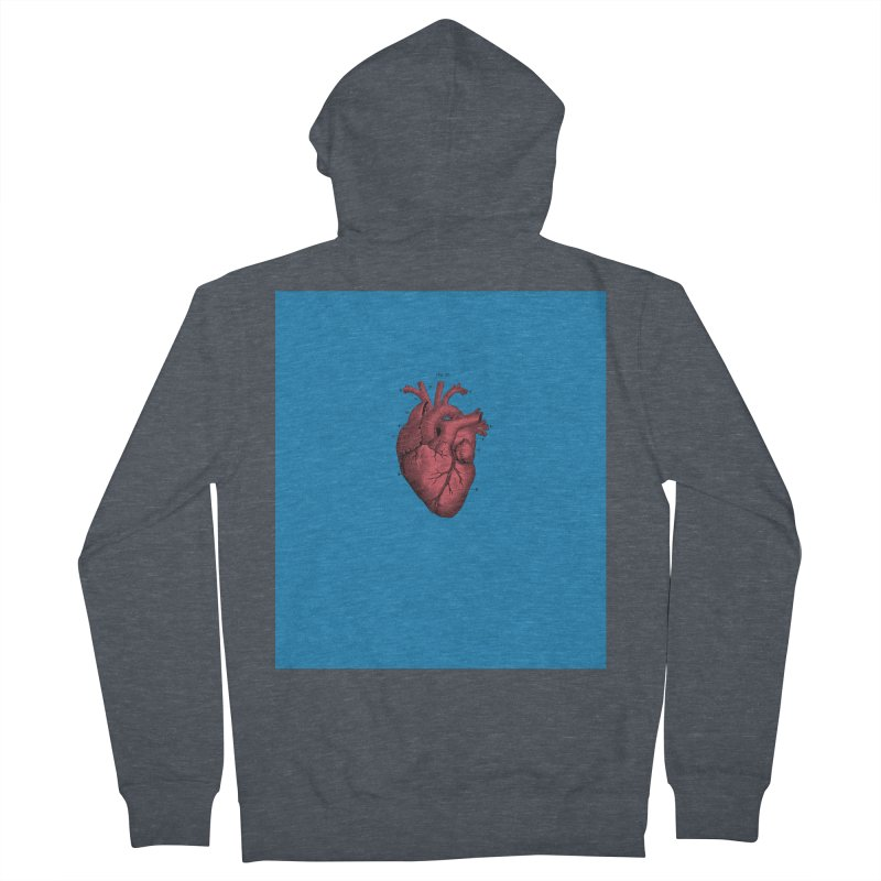 Vintage Anatomical Heart Women's French Terry Zip-Up Hoody by The Digital Crafts Shop
