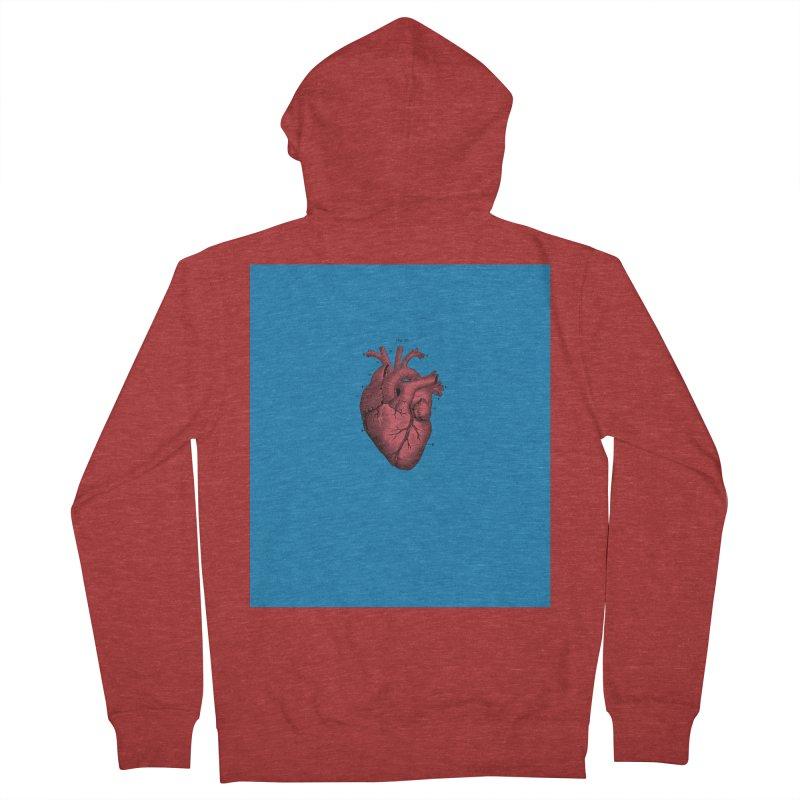 Vintage Anatomical Heart Men's Zip-Up Hoody by The Digital Crafts Shop