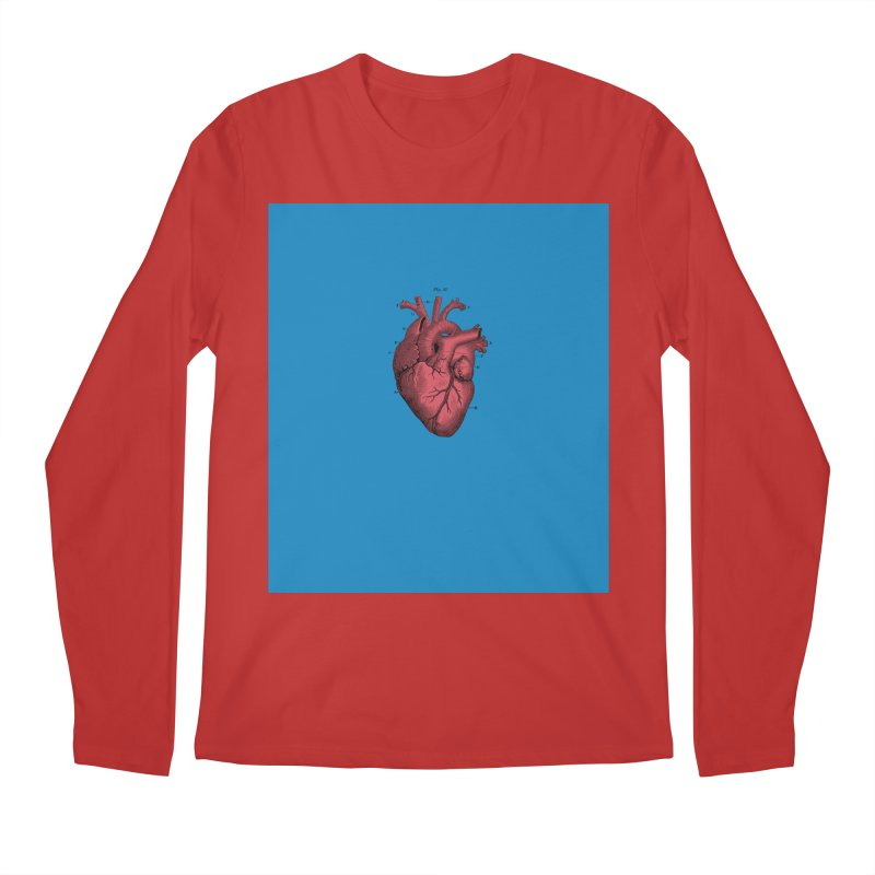 Vintage Anatomical Heart Men's Regular Longsleeve T-Shirt by The Digital Crafts Shop