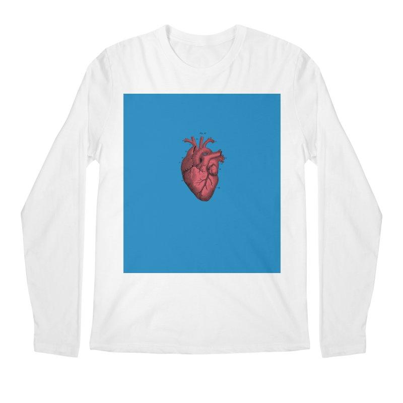 Vintage Anatomical Heart Men's Longsleeve T-Shirt by The Digital Crafts Shop