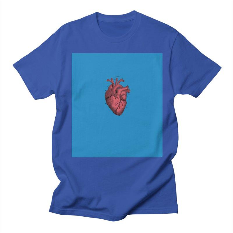 Vintage Anatomical Heart Men's T-shirt by The Digital Crafts Shop