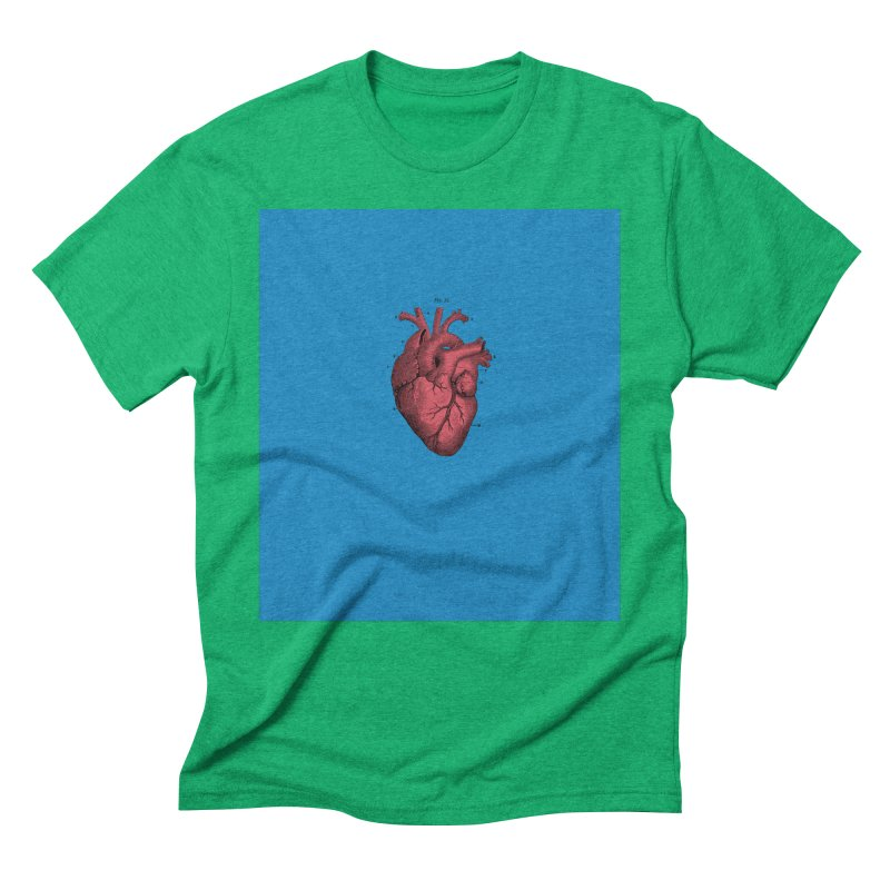 Vintage Anatomical Heart Men's Triblend T-Shirt by The Digital Crafts Shop