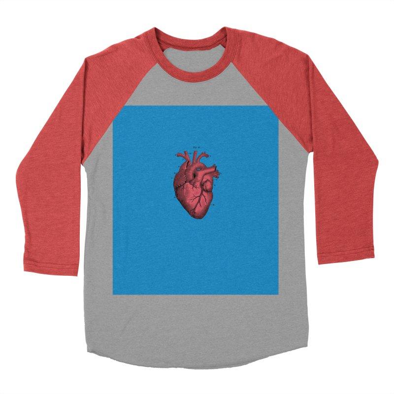 Vintage Anatomical Heart Women's Baseball Triblend T-Shirt by The Digital Crafts Shop