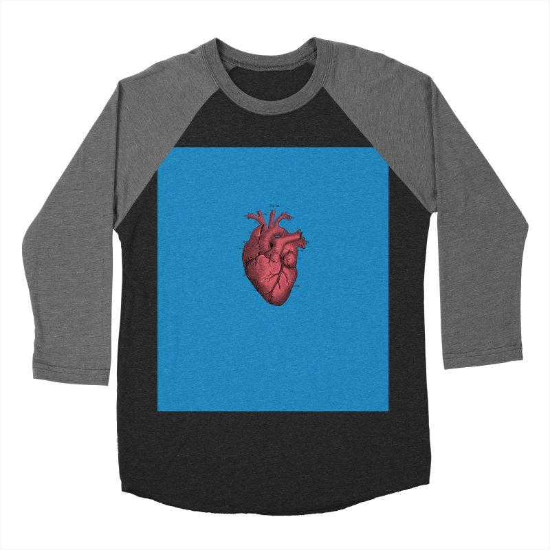 Vintage Anatomical Heart Men's Baseball Triblend T-Shirt by The Digital Crafts Shop