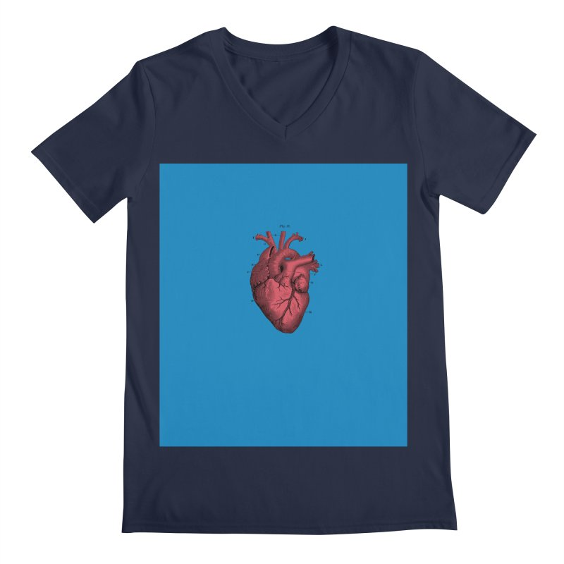 Vintage Anatomical Heart Men's Regular V-Neck by The Digital Crafts Shop