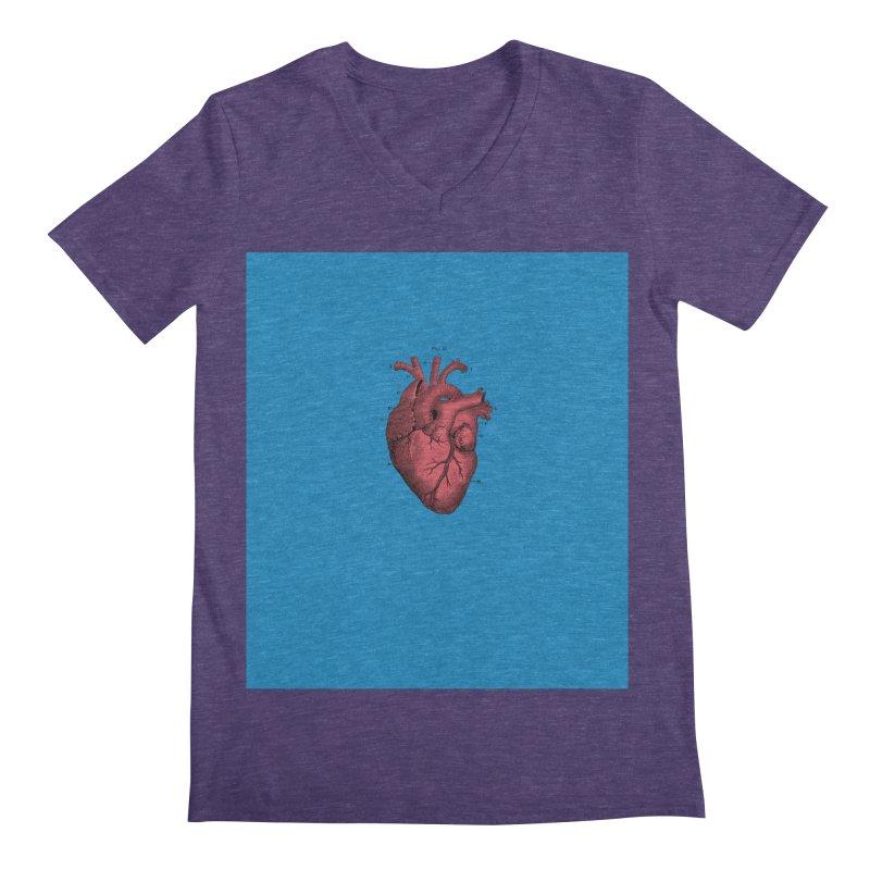 Vintage Anatomical Heart Men's V-Neck by The Digital Crafts Shop