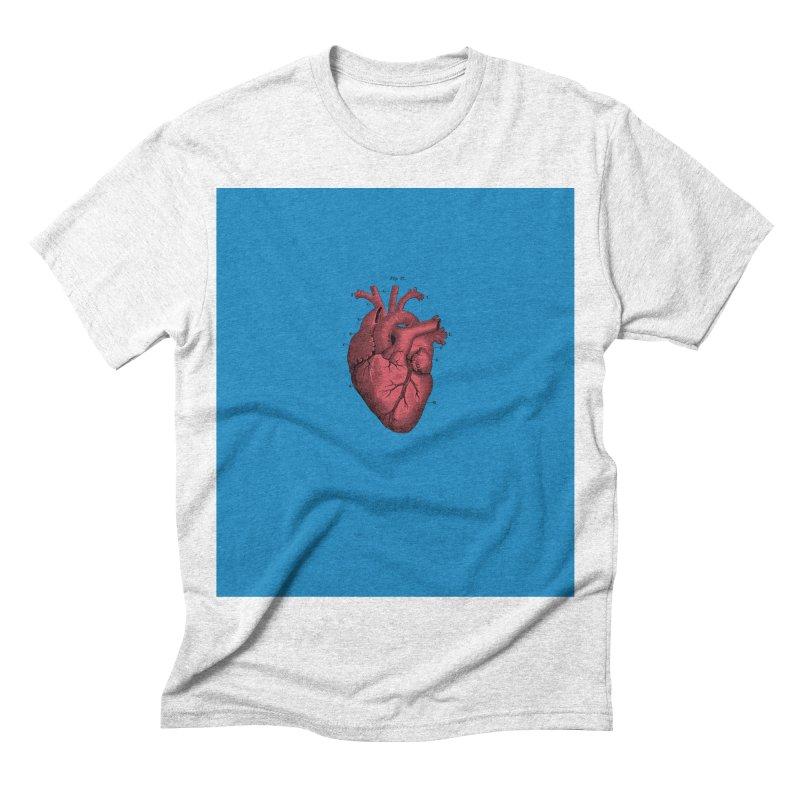 Vintage Anatomical Heart Men's Triblend T-shirt by The Digital Crafts Shop