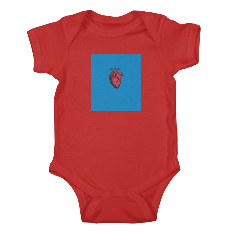 Vintage Anatomical Heart Kids Baby Bodysuit by The Digital Crafts Shop