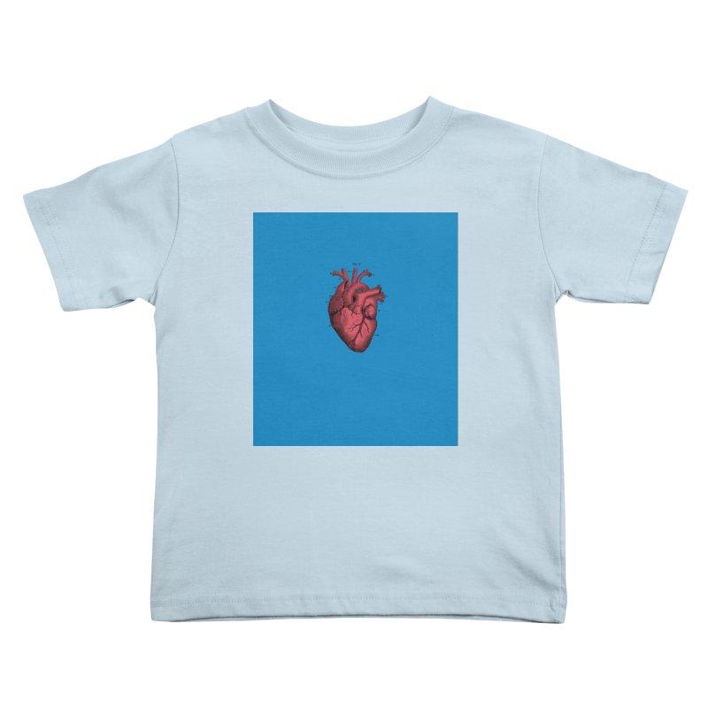 Vintage Anatomical Heart Kids Toddler T-Shirt by The Digital Crafts Shop