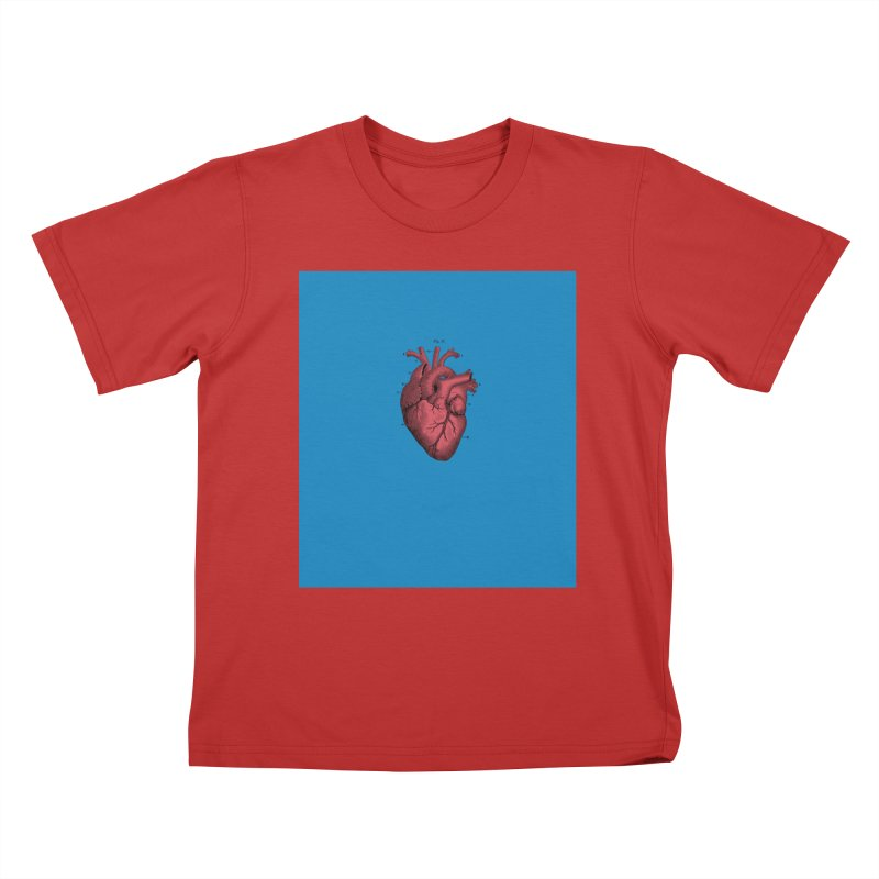 Vintage Anatomical Heart Kids T-Shirt by The Digital Crafts Shop