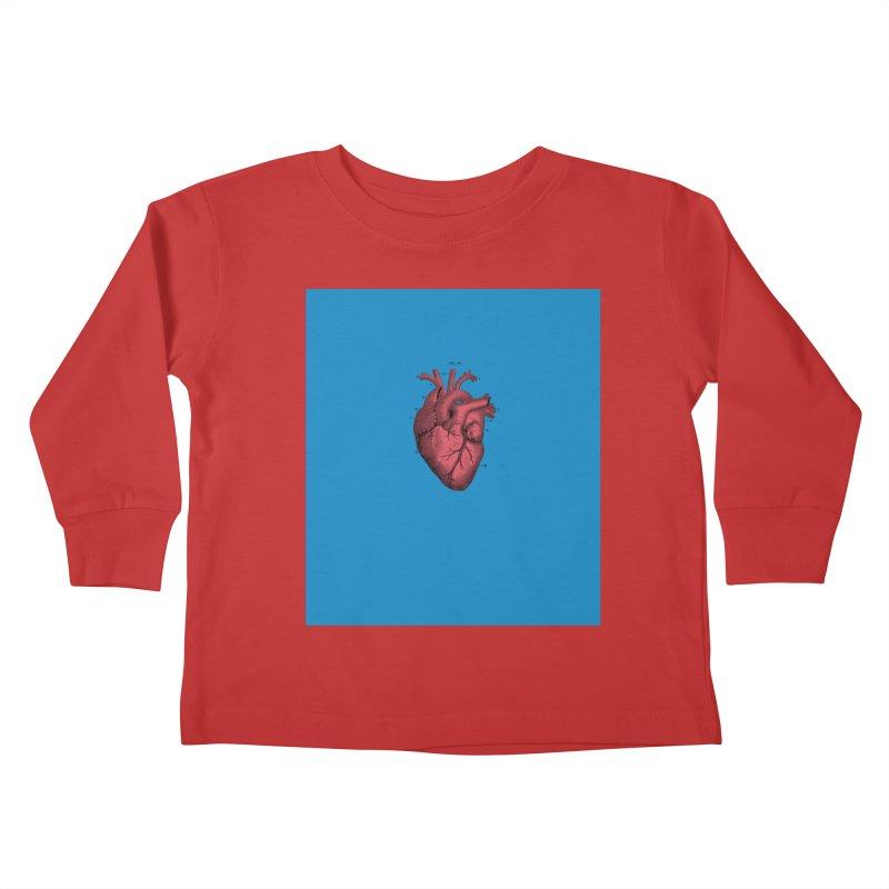 Vintage Anatomical Heart Kids Toddler Longsleeve T-Shirt by The Digital Crafts Shop