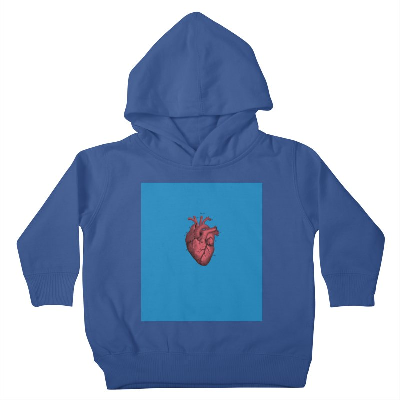 Vintage Anatomical Heart Kids Toddler Pullover Hoody by The Digital Crafts Shop