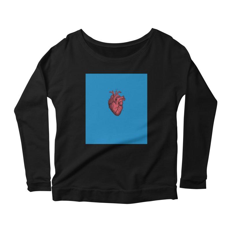 Vintage Anatomical Heart Women's Scoop Neck Longsleeve T-Shirt by The Digital Crafts Shop