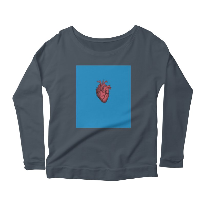 Vintage Anatomical Heart Women's Longsleeve Scoopneck  by The Digital Crafts Shop