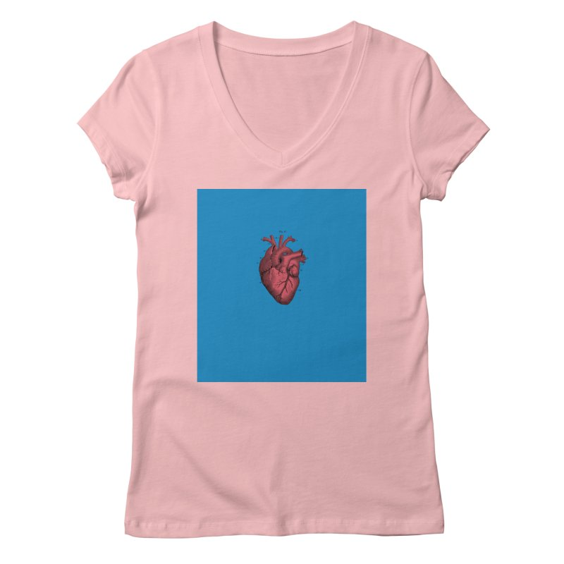 Vintage Anatomical Heart Women's Regular V-Neck by The Digital Crafts Shop
