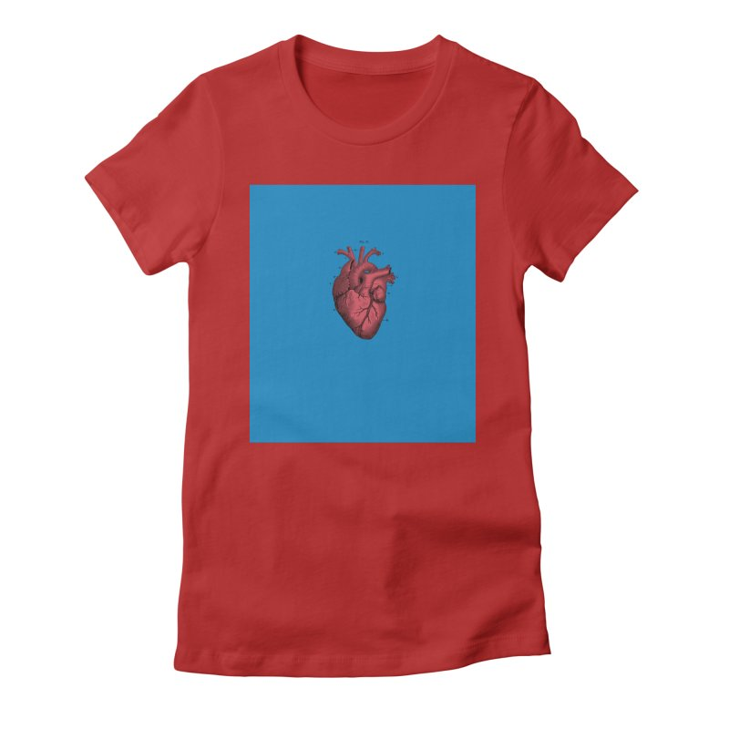Vintage Anatomical Heart Women's Fitted T-Shirt by The Digital Crafts Shop