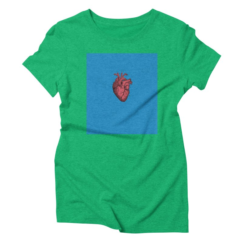 Vintage Anatomical Heart Women's Triblend T-shirt by The Digital Crafts Shop