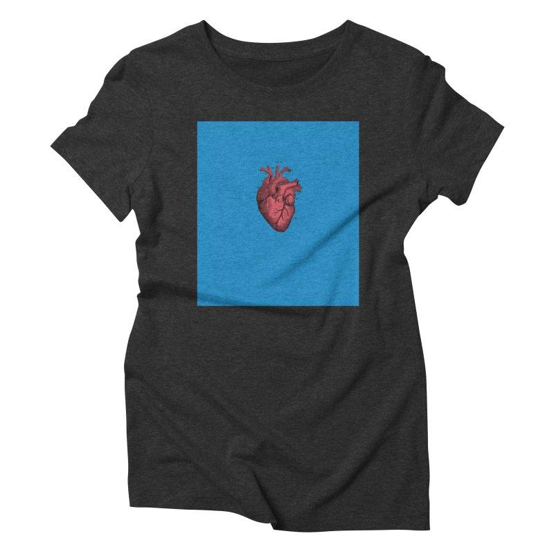 Vintage Anatomical Heart Women's Triblend T-Shirt by The Digital Crafts Shop