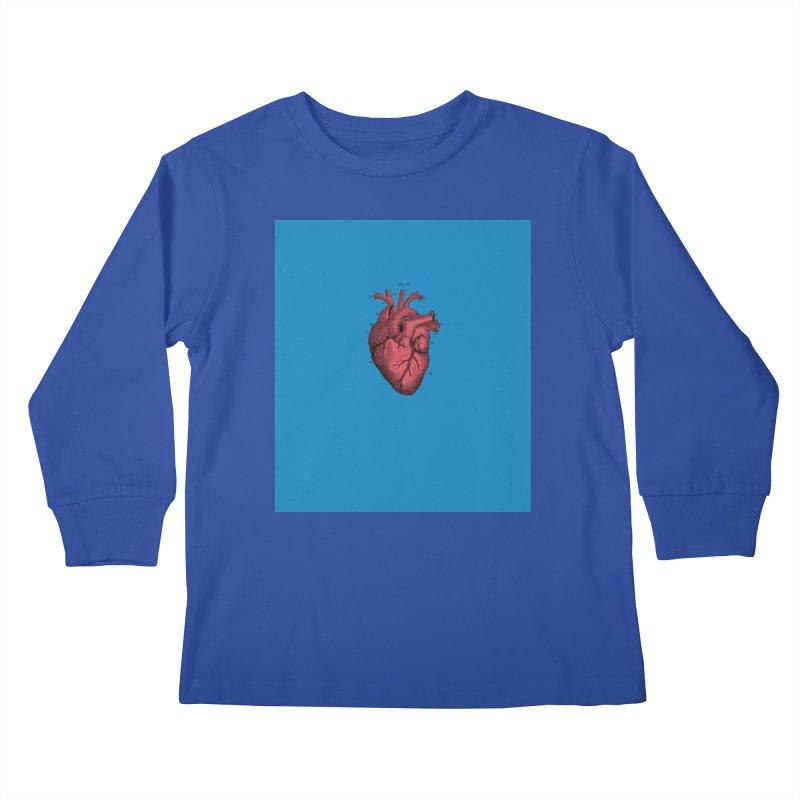 Vintage Anatomical Heart Kids Longsleeve T-Shirt by The Digital Crafts Shop