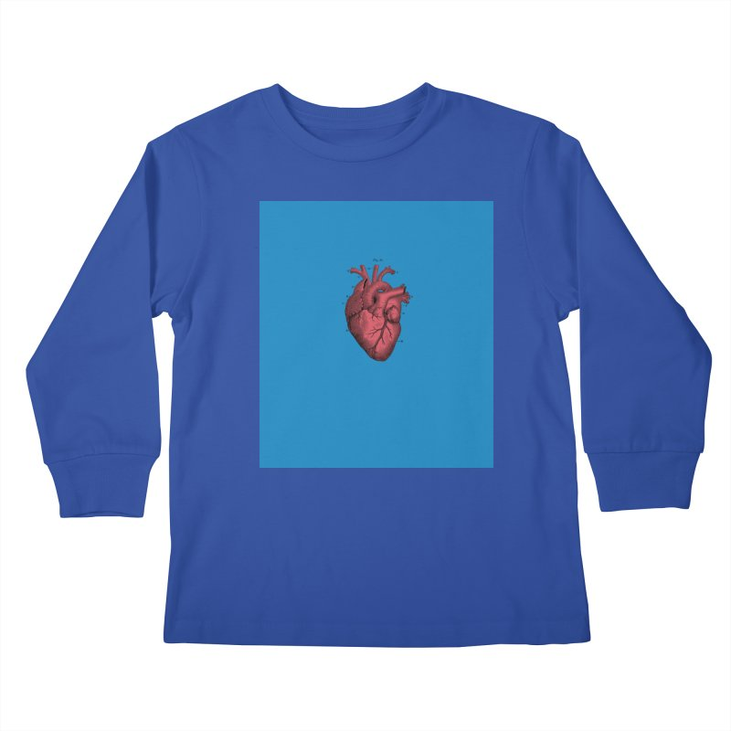 Vintage Anatomical Heart Kids Longsleeve T-Shirt by The Digital Crafts Shop