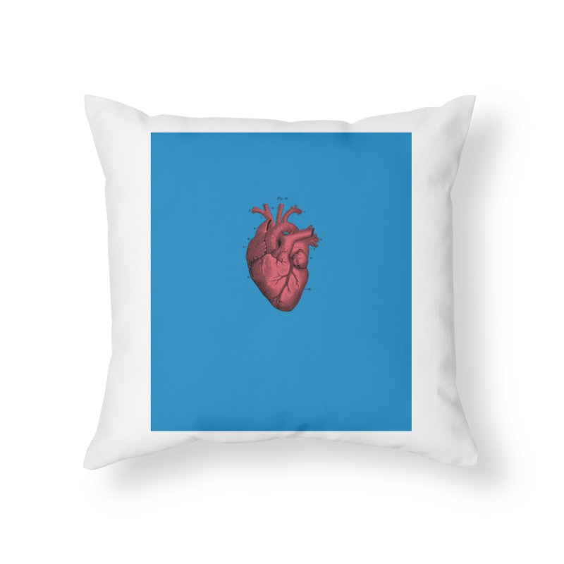 Vintage Anatomical Heart Home Throw Pillow by The Digital Crafts Shop