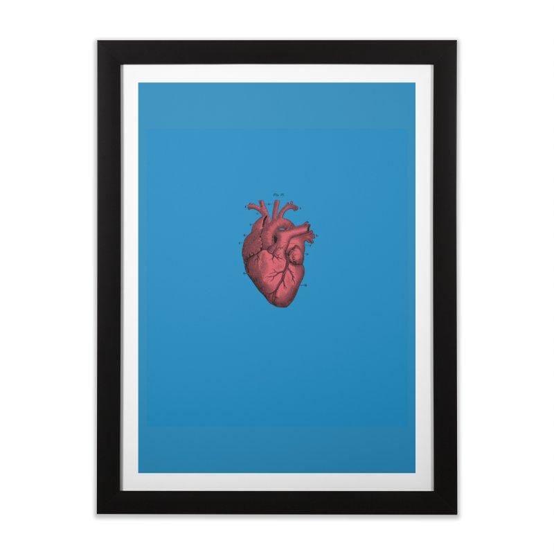 Vintage Anatomical Heart Home Framed Fine Art Print by The Digital Crafts Shop
