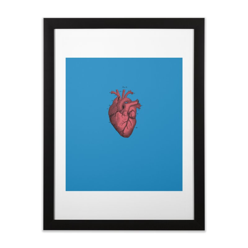 Vintage Anatomical Heart Home Framed Fine Art Print by The Digital Crafts Shop