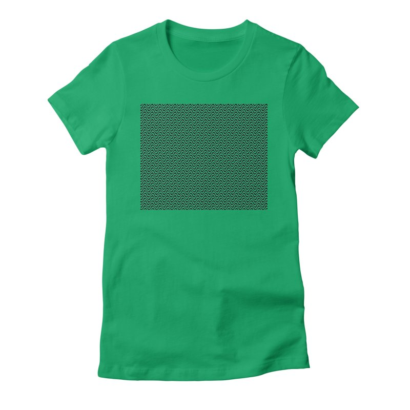 Turbulence Women's Fitted T-Shirt by The Digital Crafts Shop