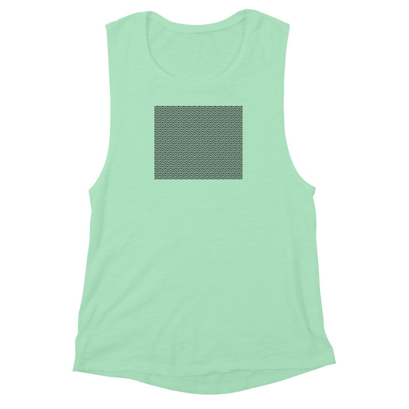 Turbulence Women's Muscle Tank by The Digital Crafts Shop