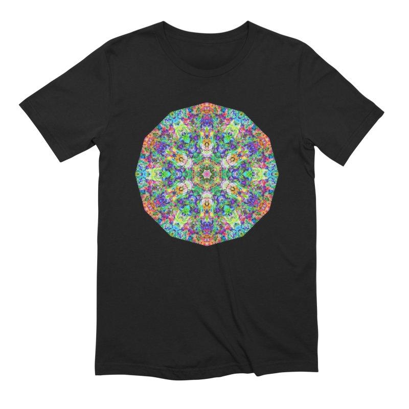Emphasis 31 Mandala Kaleidoscope Men's Extra Soft T-Shirt by The Digital Crafts Shop
